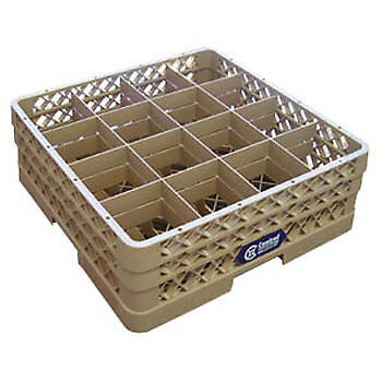 """Glass Rack - 16 Square Compartments, 8-3/4""""H (with extenders)"""