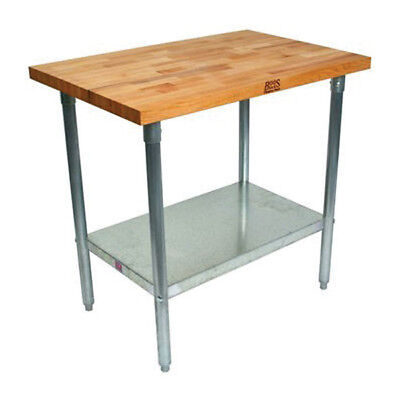 "Maple Top Work Table, 36"" Wide, With Undershelf"