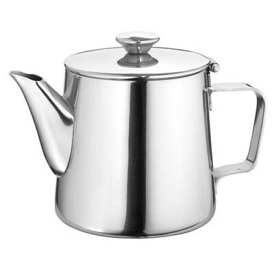Stainless Steel Gooseneck Tea Pot With Hinged Lid, 21 oz.