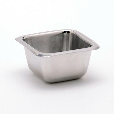 Stainless Steel Square Sauce Cup - 2-1/2 oz. Capacity