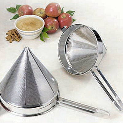 Stainless Steel China Cap Strainer - Coarse Perforations, 4 Qt.