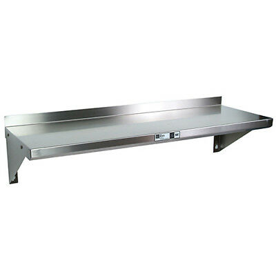 "Stainless Steel Wall Shelving - 96""Wx12""D Shelf"