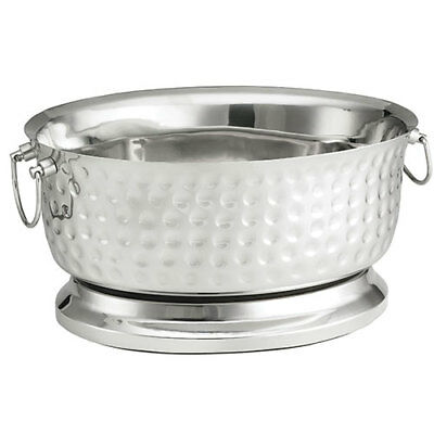 """Stainless Steel Oval Beverage Tub - Double Wall, 18""""""""Wx8-3/4""""Dx15-1/4""""H"""