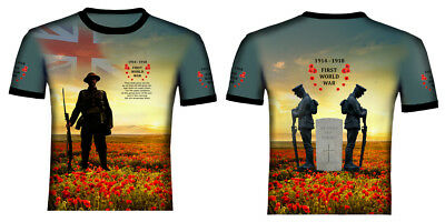 Poppy Day Remembrance British Army T-shirt Vest Tank Top Men Women Unisex 2184