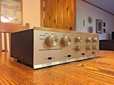 Dynaco PAS 3X Stereo TUBE Preamp w/phono Telefunken/Amperex 12AX7s Tested 18-3