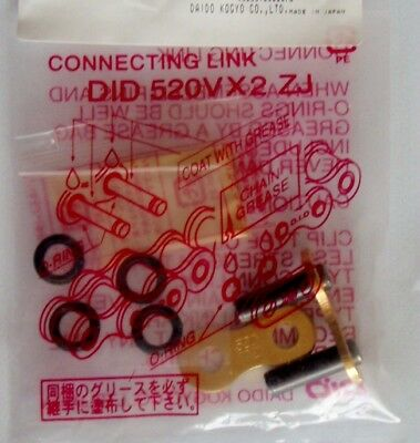 DID 520 Rivet Link VX2GB X Ring Motorcycle Chain Soft Link Gold