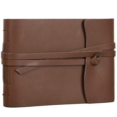 Old Fashioned Leather Photo Album Scrapbook Photograph Book