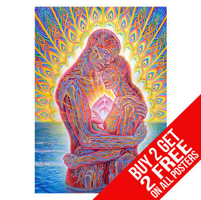 Alex Grey Ocean Of Love Bliss Poster Print A4 A3 Size - Buy 2 Get Any 2 Free