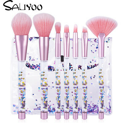 New Glitter Mermaid Makeup Brushes Set Foundation Powder Eyeshadow Blush Brush