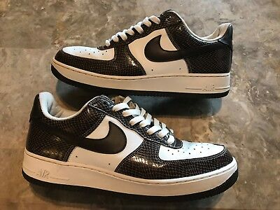Rare 2004 Nike Air Force 1 Premium Cocoa Snake Brown White Size 11