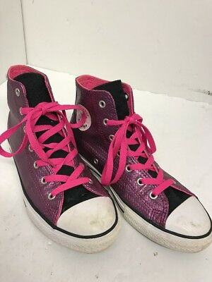 f52130c65d05 CONVERSE ALL STAR Chuck Taylor High Tops Size 5 Black Pink Teal ...