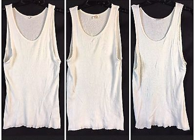 dbeae2bb76e7fe VTG 60 s 70 s Men s Undershirt Ribbed Tank T-Shirt Lot Of 3 Arrow Stride