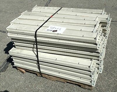 "New 48"" Long Tear Drop Style Pallet Rack Shelving Beams 4-1/2"" Tall Racking"