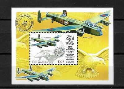"Gambia ""The 80th Anniversary of Royal Air Force 1998"" Postfrisch"