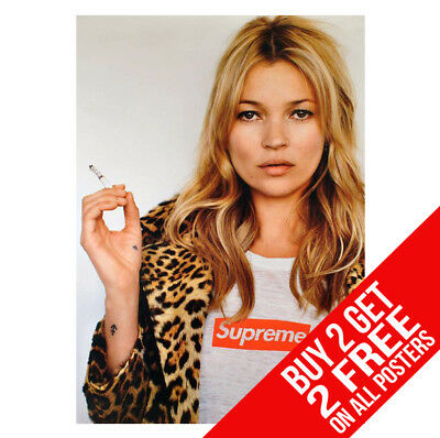 Kate Moss Supreme Poster Fashion Print A4 A3 Size - Buy 2 Get Any 2 Free