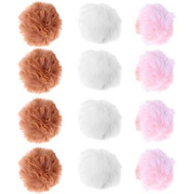 12pcs Soft Colorful Cat Toy Balls Pet Kitten Interactive Scratch Funny Ball Toys