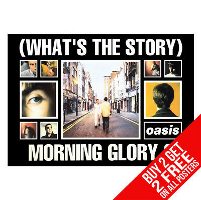 Oasis (Whats The Story) Morning Glory Poster A4 A3 Size - Buy 2 Get Any 2 Free