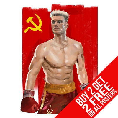 Rocky 4 Iv Ivan Drago Poster Bb6 Print A4 A3 Size - Buy 2 Get Any 2 Free