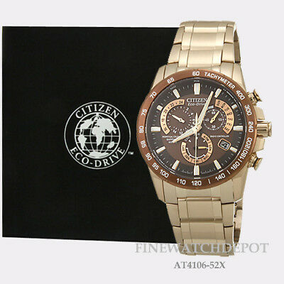 19adcbf7c963 Authentic Citizen Eco-Drive Men s PCAT Rose Gold Tone Brown Ion Watch  AT4106-52X
