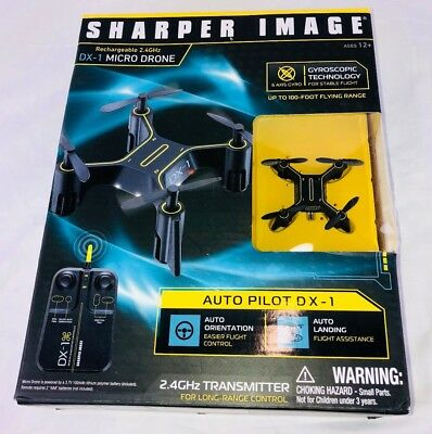 Sharper Image Rechargeable 24ghz Transmitter Dx 1 Micro Drone Mini