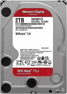"Western Digital WD Red 2TB 3.5"" SATA Internal Desktop NAS Hard Drive 7200RPM PC"