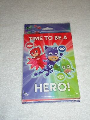 New Pj Masks Birthday Party Invitations Thank You Post Cards 8 Each