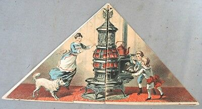 Vintage Victorian Advertising Trading Card -- Pot Belly Stove
