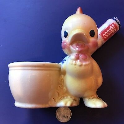 Vintage Happy Baby Chick Vase Planter Retro 1950's Nursery Spring Summer Farm
