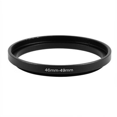 46mm to 49mm Black Camera Filter Lens Step Up Ring Adapter B9P8