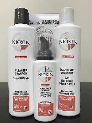 Nioxin System Kit 4 for Fine Hair - Cleanser, Conditioner and Scalp Treatment