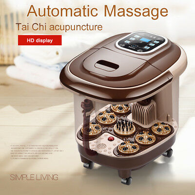 Automatic Digital Foot Massager Spa Bath Therapy Motorized Rolling Heat Rollers
