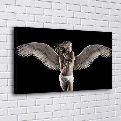 """12""""x20""""Angel Spread Wings Painting HD Print on Canva Home Decor Wall Art Picture"""