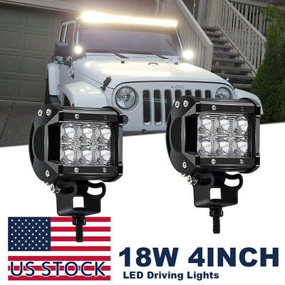 """New pair 4"""" Led Work Light Assembly for Ford/New Holland 2N, 8N, 9N, Jubilee NAA"""