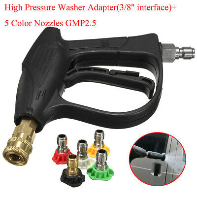 "Car Wash Gun 3000PSI 3/8"" Quick Connector High Pressure Water Washer + Nozzle"