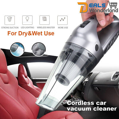 120W Wet & Dry Portable Car Home Vacuum Cleaner Rechargeable Handheld High Power
