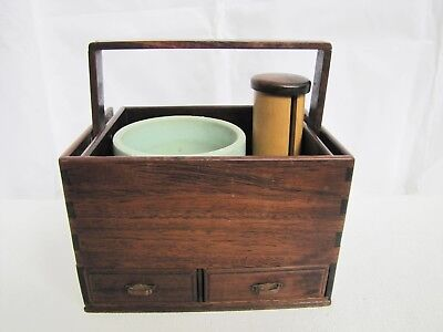 Antique Late 19th Century Japanese Wooden Bento Lunch Box
