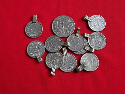 Belly Dance Authentic Tribal Coins with Attached Loop x 10 - Small