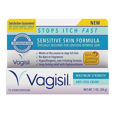New Vagisil Sensitive Skin Formula with Oatmeal Anti-Itch Crème 1 Oz.