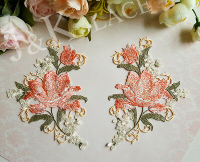 Exquisite Pink Flower Sewing Applique