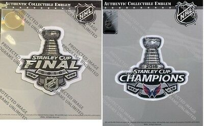2018 Stanley Cup Final & Washington Capitals Champions Nhl Patch Set Of Two (2)