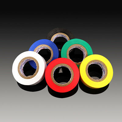 6PCS PVC Electrical Insulation Tape Flame Retardant Assorted Colour 20m×17mm UK