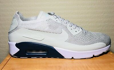 NEW Nike Air Max 90 Ultra 2.0 Flyknit Men's Size 12 Pale Gray {875943 006}