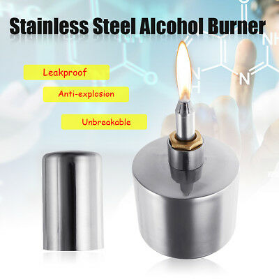304 Stainless Steel 200ml Alcohol Lamp Burner With Wick Spirit Lamp Biology Lab