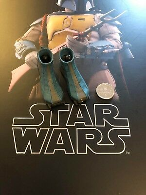 Hot Toys Star Wars Animated Boba Fett Boots & Foot Pegs loose 1/6th scale