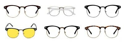 3d1b0dfdbc1f Sunglasses Outray Vintage Retro Classic Half Frame Horn Rimmed Clear Lens  Glasses 2135c3