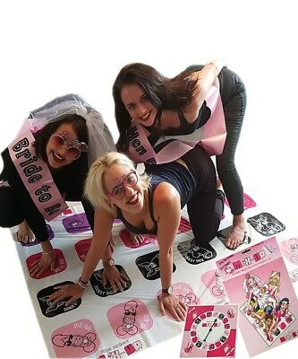 Hen Party Mix up Twister Tangle Game Hens Night Do Parties Drunk Bride Gift