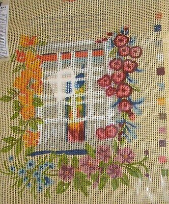 Tapestry Canvas Orange Pink Yellow Flowering Climbing Vine Window Colour Printed