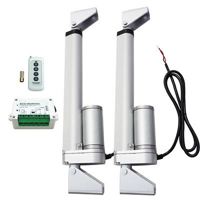"2 Set 8"" 12V 200mm Linear Actuator & Wireless Remote Control for Window Lift UK"