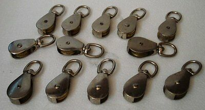 Lot of 13 pcs ANTIQUE Marine BRASS PULLEY - SHIP'S 100% ORIGINAL