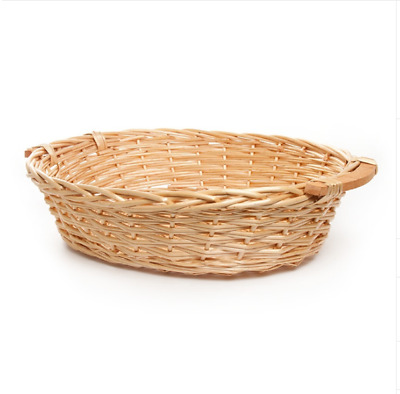 Oval Honey Colored Willow Bread Tray (57x46x14cmH) Natural Basket Hamper